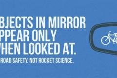 Объекты видны в зеркале только в том случае, когда в него смотришь