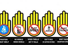 Пристегнись, Забудь про телефон, Не превышай скорость, Переходи правильно, Соблюдай дистанцию