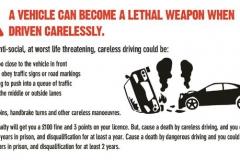 Автомобиль может стать смертельным оружием, если водить безответственно