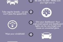 Советы по безопасному вождению ночью