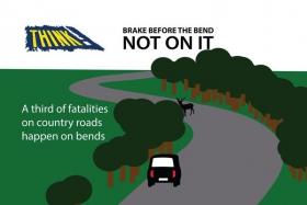 Треть смертельных аварий на загородных дорогах происходит в кривых (в поворотах). Затормози перед кривой, а не на ней.