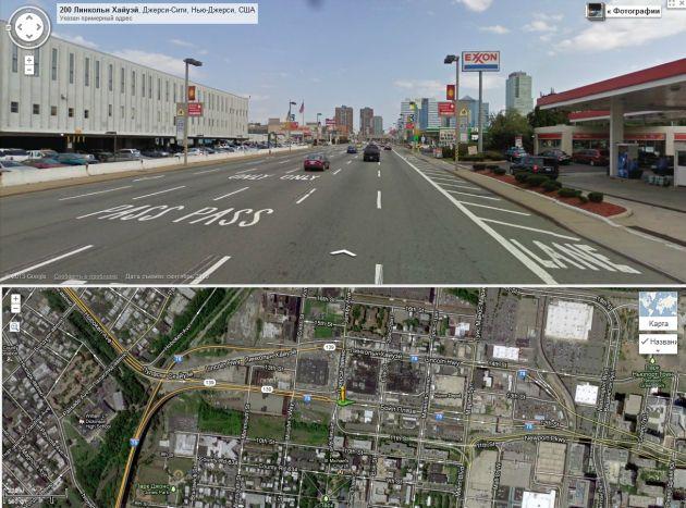 Нью-Йорк. Городская улица. Ограничение 40 км/ч