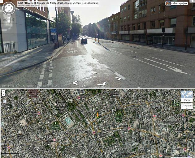 Лондон. Городская улица. Ограничение 48 км/ч