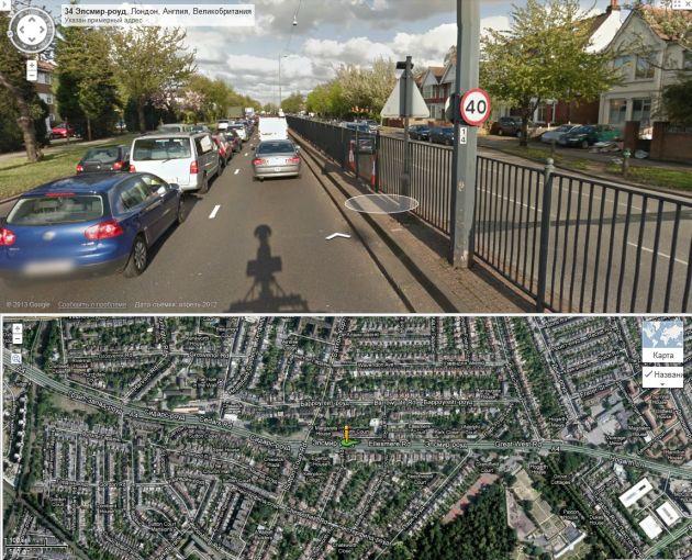 Лондон. Городская улица. Ограничение 64 км/ч