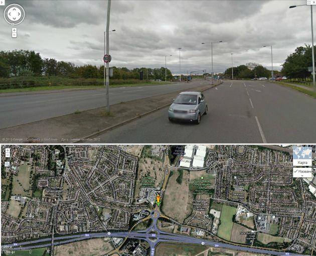 Лондон. Городская улица. Ограничение 80 км/ч
