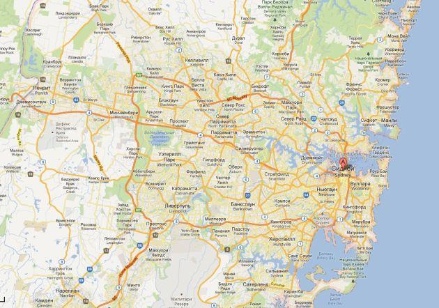 Карта Сиднея