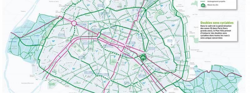 План развития велосипедной инфраструктуры Парижа до 2020 года