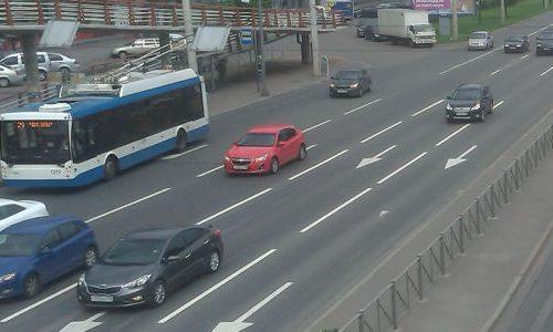Про снятие троллейбуса в центре Москвы