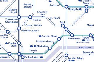 Карта метро для велосипедистов