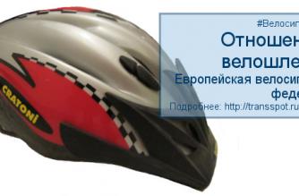 Европейская Велосипедная Федерация: Отношение к велосипедным шлемам
