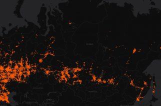 Карта ДТП на территории России