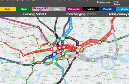 Уровень загрузки лондонского метрополитена
