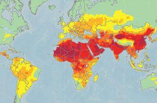Интерактивная карта загрязнения воздуха в мире
