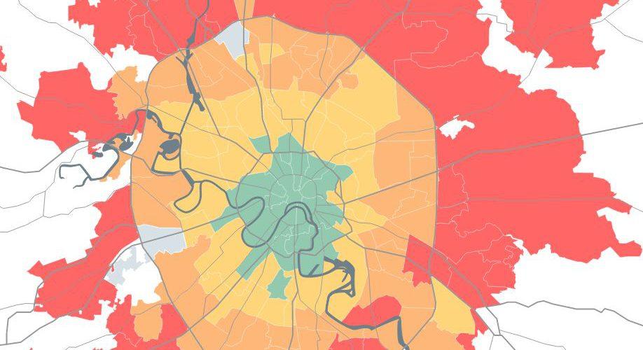 Москва: Анализ автомобильных поездок Работа-Дом от Яндекс