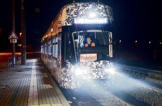 Тормозной путь нового трамвая в Лейпциге
