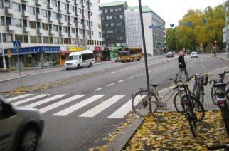 Пешеходный переход в Финляндии