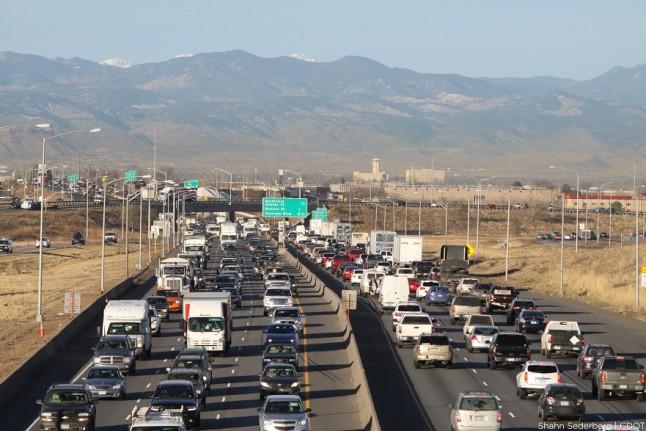 Магистраль I-70 в Денвере, США